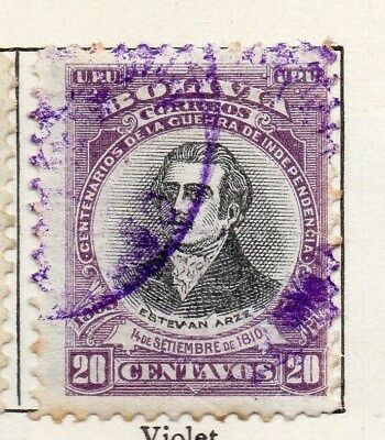 Bolivia 1909 Early Issue Fine Used 20c. 096610