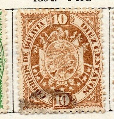 Bolivia 1894 Early Issue Fine Used 10c. 096629