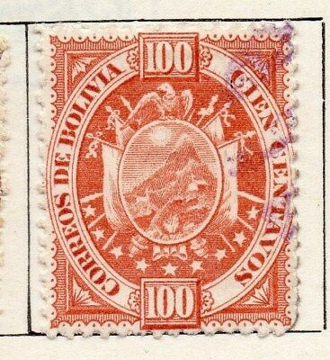 Bolivia 1894 Early Issue Fine Used 100c. 096632