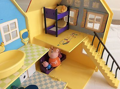 Peppa Pig Deluxe Playhouse Set With Characters & Furniture Combined P&P