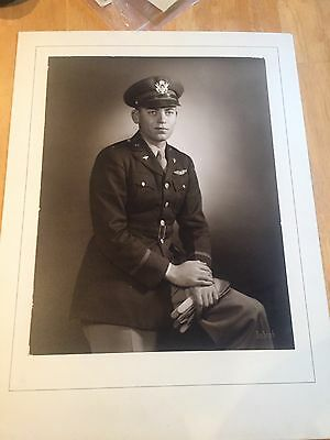 "US Army Air Corps Officer's 18""x13 1/2"" Photo"