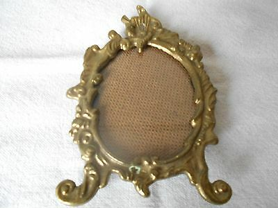 Vintage french BRONZE Picture Frame Plaque LOUIS XV style