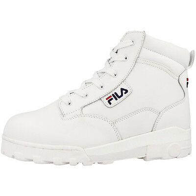 Fila Grunge L Mid Women Leather Outdoor Schuhe Boots Stiefel white 4010282.1FG