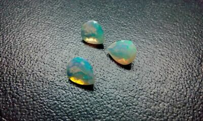 Natural Ethiopian Opal AAA Quality 5x7mm Faceted Pear 1pc Play Of Color DDL174