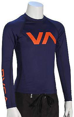 RVCA Boy's VA LS Rash Guard - Midnight - New