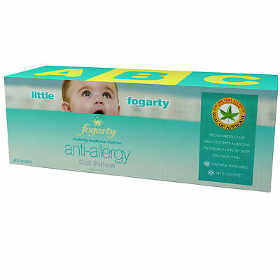 Little Fogarty Ultracare Anti Allergy Cot Bed Baby Pillow, Matching Quilt Ava...