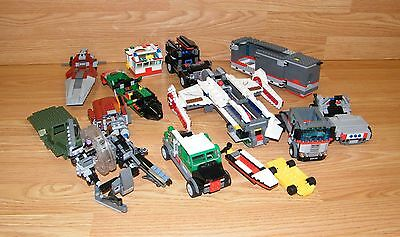 Mixed Lot of 14 LEGO Incomplete Vehicles - Star wars, Truck, Boat, Semi **READ**