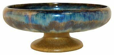 Fulper Pottery Flambe Mottled Glaze Pedestal Bowl Shape 412