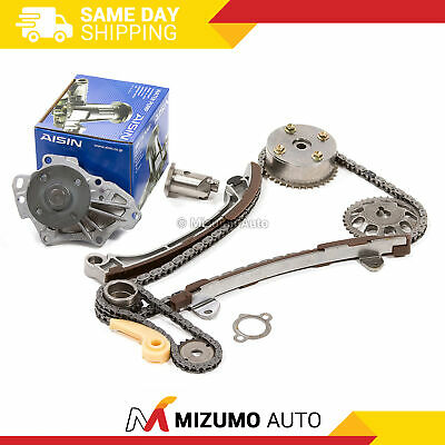 Timing Chain Kit VVT Gear Solenoid Water Pump Fit 01-13 Toyota Scion 2AZFE