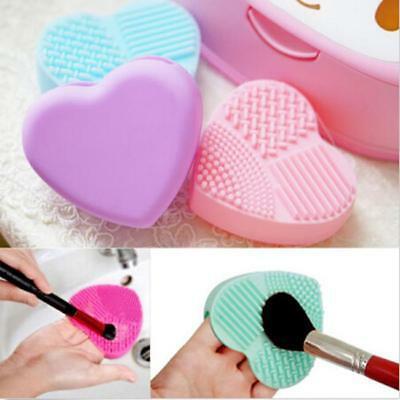 Heart Shape Make Up Brush Cleaner Scrubber Brushegg Cleaning Silicone Tools LA