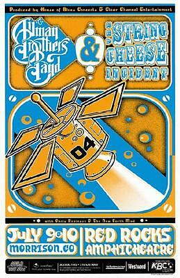 Allman Brothers String Cheese Incident Red Rocks 2004 Concert Poster Colorado