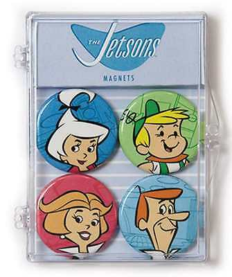 HANNA BARBERA THE JETSONS 4 PIECE MAGNET SET NEW IN BOX #ssep16-150