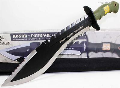 United Marine Force Recon Serrated Sawback Kukri Combat Assault Fighting Knife
