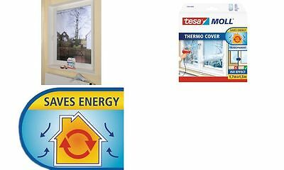 tesa MOLL Thermo Cover Fensterisolierfolie, 1,7 m x 1,5 m