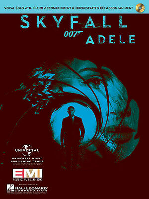 Skyfall Movie Song by Adele Vocal Solo Sheet Music Piano Accompaniment CD NEW
