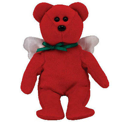 TY Holiday Baby Beanie - DIVINE the Angel Bear (5.5 inch) - MWMTs Ornament Toy