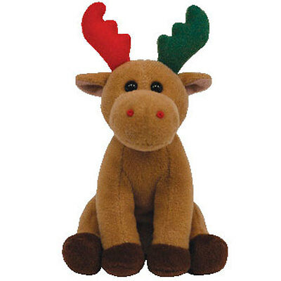 TY Holiday Baby - HERALD the Moose (4 inch) - MWMTs Ornament Toy