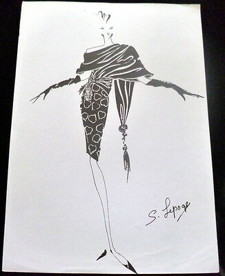 VTG Original 1990s FASHION STAT SHEET HAUTE COUTURE Serge Lepage *FROM PARIS*