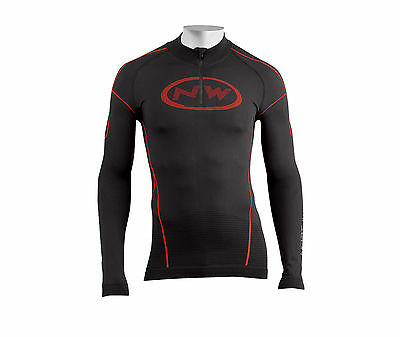 Trikot Winterlich M/Lange NORTHWAVE EVOLUTION TECH Schwarz/Rot/JERSEY LONG