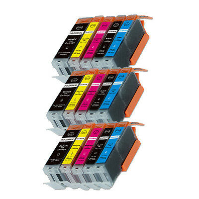 15PK Combo Printer Ink chipped for Canon 250 251 MG6600 MG6622 MX920 MX922