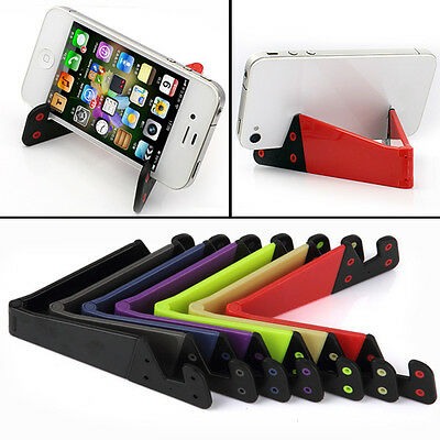 Foldable Mobile Phone Stand Holder For Smart Phone iPad & Tablet PC Best New 547