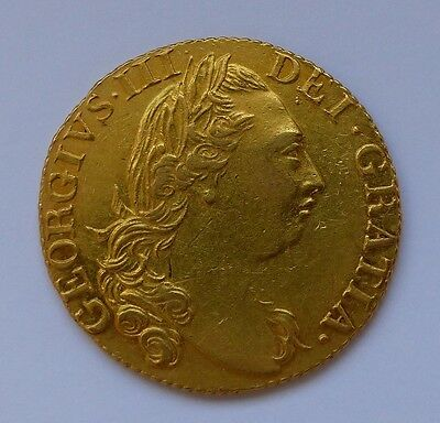1785 GEORGE III GOLD GUINEA almost EF