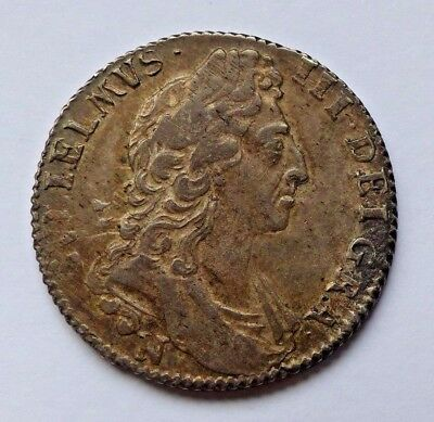 1697 William Iii Norwich Shilling