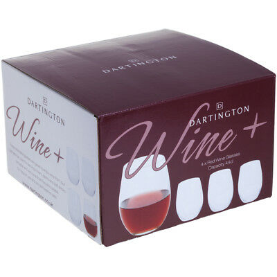 Dartington Wine+ Red Wine Stemless Glasses Four Pack NEW