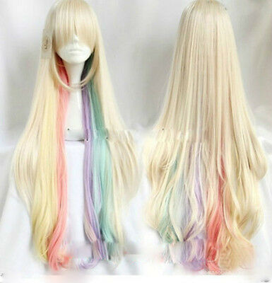 New Cosplay VOCALOID MAYU Multi-Color Mixed Women's Long Wigs