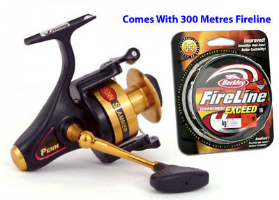 Penn Slammer 360 Spinning Fishing Reel (With 300m 7.5kg Fireline)