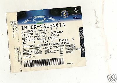Calcio   Biglietto  Ticket  Champions   League   Inter  Valencia   21-2-2007