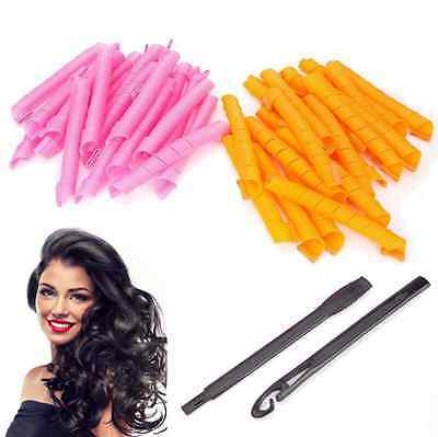 50CM 40pcs DIY Long Hair Rollers Curlers Magic Circle Twist Spiral Styling Tools