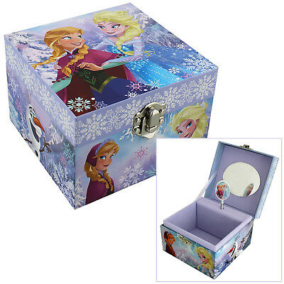 Girls Childrens Disney Frozen Anna & Elsa Musical Jewellery Trinket Keepsake Box