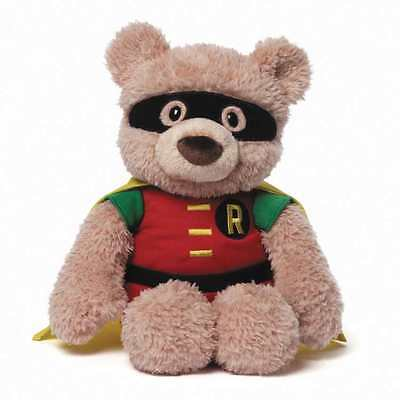 "GUND DC COMICS ROBIN TEDDY BEAR 12"" PLUSH NEW WITH TAGS  #ssep16-162"