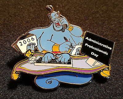 Rare 2006 Disney Wdw Administrative Professionals Day Genie & Carpet Pin Le 1500