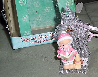 Precious Moments Crystal Clear Memories Christmas Ornament 2000 Caroler & Church