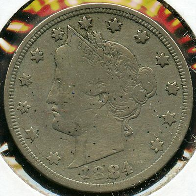 1884 Liberty V Nickel - L5C MM306