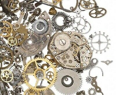 1 OZ Watch Parts Component Mix of Mixed Metal Assortment Great for Altered Art