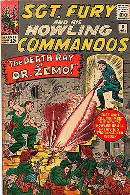 Sgt Fury And His Howling Commandos #8 - 1st Percival Pinkerton- 1964 (Grade 4.0)