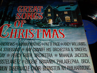 GREAT SONGS OF CHRISTMAS CBS Special Goodyear Vinyl LP 12/16