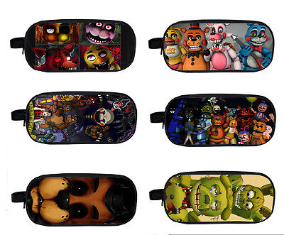 "FNAF Five Nights at Freddy's Double-deck Bag Student School Pencil case 9.5"" L"