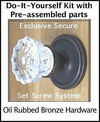 Value Pack of THREE sets-Finest Fluted 12pnt Crystal Knobs 2-Passage & 1-Privacy