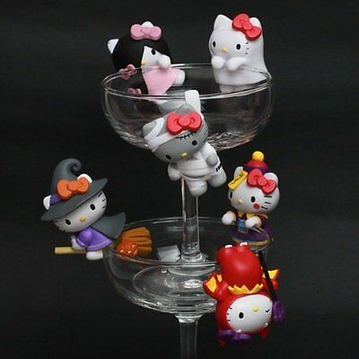 NEW Taiwan Sanrio 6 Hello Kitty Funny Show Halloween Edge of the Cup Figure Set