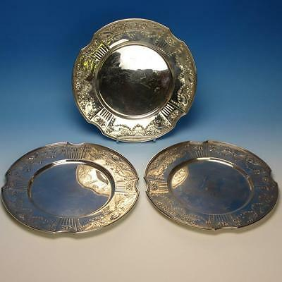 Gorham Sterling Silver - 3 Sterling Dinner Plates - 10¾ inches - 50.55 Troy OZ