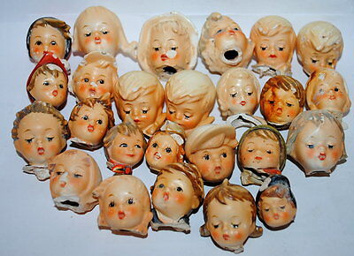 Lot heads broken off from Hummel figurine for repair or altered Art 08