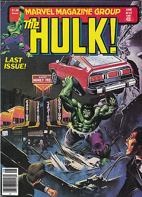 June 1981 Marvel Comics The Hulk Comic Book Magazine #27