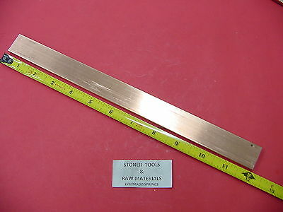 "1/4""x 1"" C110 COPPER BAR 12"" long Solid Flat Bar .25"" Mill Bus Bar Stock H02"