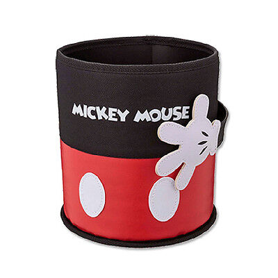 Trash Can Dust Bin Barrel Objects Organizer for Car Multi Use Mickey Mouse
