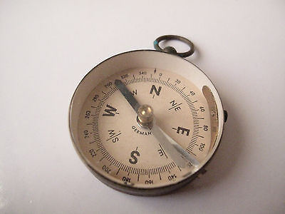 Medium Vintage Brass Compass Made In Germany - Free Postage