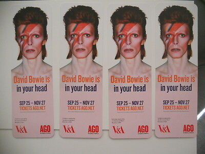 David Bowie 4 bookmarks from the Art Gallery exhibit ( only issued in Canada)